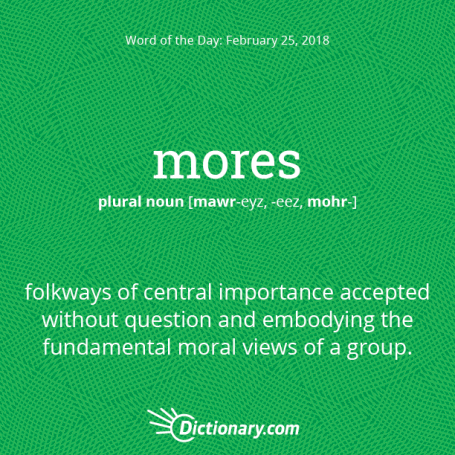 "Clickable banner to ""mores (n.)"""