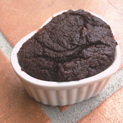 Photo of my freshly-baked lava cake