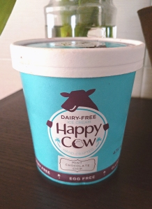 A photo of Happy Cow Mint Chocolate Chip ice cream